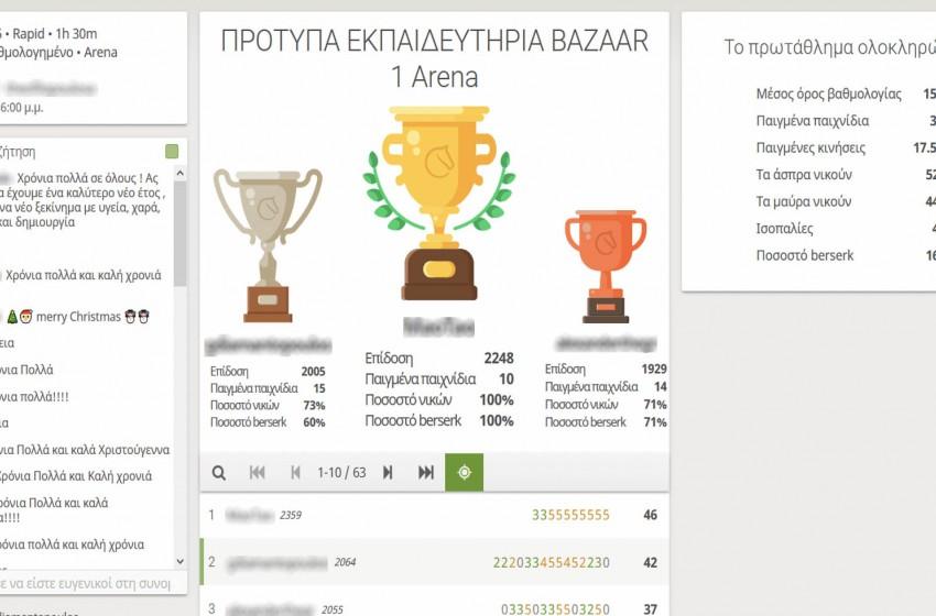 Το Τουρνουά Σκάκι του Bazaar μας ολοκληρώθηκε